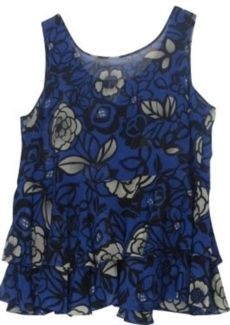 Preload https://item1.tradesy.com/images/karen-zambos-blue-with-flowers-blouse-size-4-s-1000-0-0.jpg?width=400&height=650