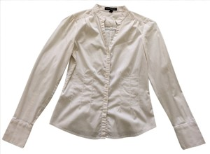 Express Collared Button Down Button Down Shirt White