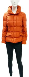 Salvatore Ferragamo Burnt Lightweight Goose Down 2 Xs Orange Jacket