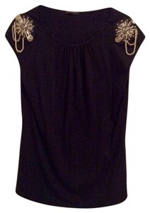 Sisley Top Black w/silver