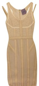 Creme Maxi Dress by Hervé Leger