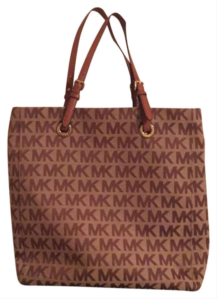 Michael Kors Tote In Brown Tan