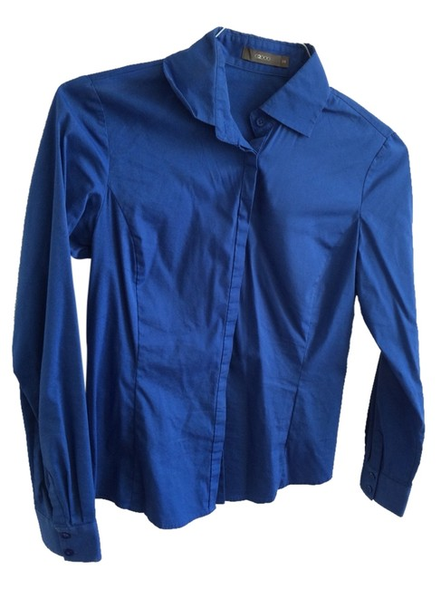Preload https://img-static.tradesy.com/item/1000065/g2000-blue-collared-shirt-button-down-top-size-2-xs-0-0-650-650.jpg