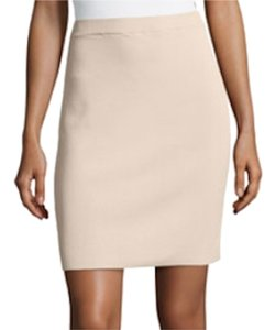 Carmen Marc Valvo Pencil Sexy Nude Neutrals Comfortable Elegant Skirt Tan