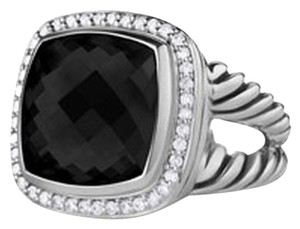 David Yurman David Yurman Sterling Silver Black Onyx and Diamond Albion Ring