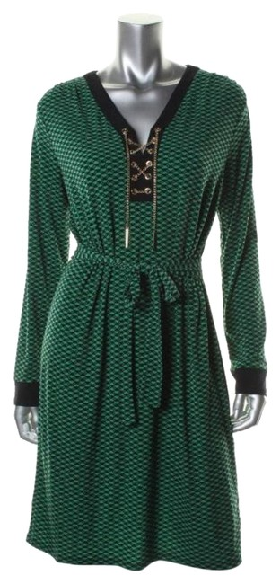 Item - Green Gold Black Style Number: Mh38u42ca4 Knee Length Work/Office Dress Size 2 (XS)