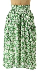 Anthropologie Porridge Flowy Style 20834784 Skirt Green, White