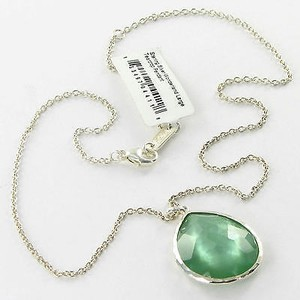 Ippolita Ippolita Necklace Wonderland Lg Teardrop Mint Quartz Mop Doublet 925