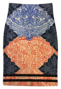 Akira Skirt White, blue, black orange