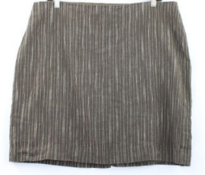 Kenneth Cole Linen Skirt BROWN