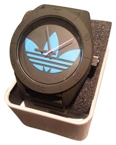 adidas Adidas Santiago XL Unisex Black Turquoise Blue Quartz Watch NEW WITH TAG
