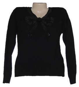 Amanda Smith Sequin Angora Wool Silk Vintage Petite Long Sleeve Soft Sweater