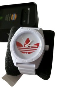 adidas ADIDAS Originals Santiago Unisex WHITE Watch RED Logo NEW WITH TAG