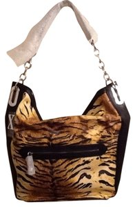 Maxx New York Tote in Tan/Black Animal Print