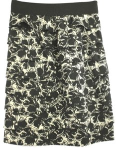 Alfani Black White Tiered Pencil Skirt BLACK/WHITE