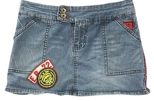 Ecko Denim Jeans Mini Mini Skirt BLUE
