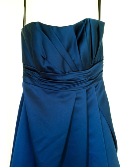 Priscilla of Boston Teal Blue Polyester Vineyard Collection Vy1502 Formal Bridesmaid/Mob Dress Size 4 (S)
