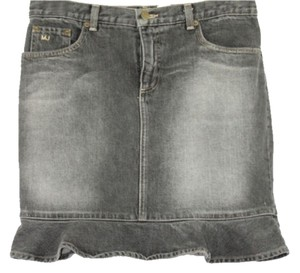 Marc Jacobs Black Denim Skirt GRAY