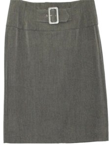 Grace Elements Stretchy Pencil Skirt GRAY