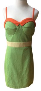 Gianni Bini Top Green, orange/salmon