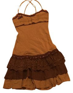Hazel short dress Chocolate Lace Teared Brown on Tradesy