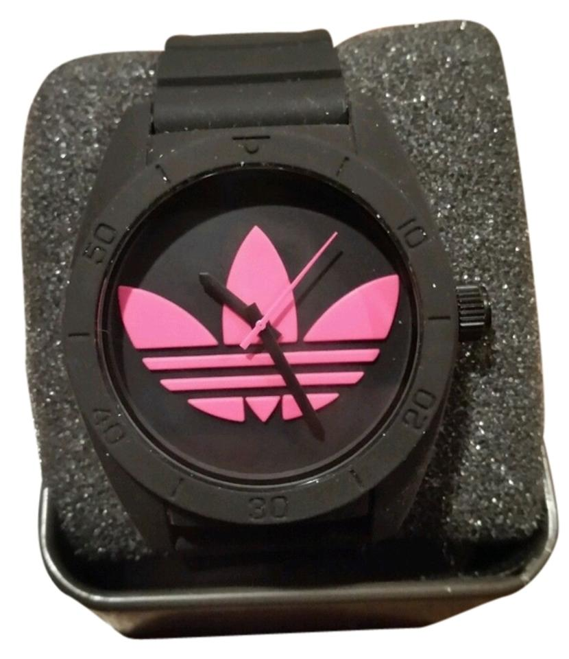 0d963425129d adidas Black Pink Santiago and Fuschia Silicone Unisex New Watch