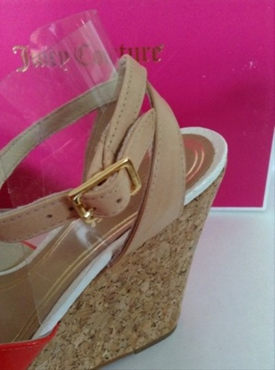 Juicy Couture Red Patent/Natural Vacchetta Sandals