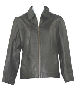 REZA DURO Black Leather Leather Jacket