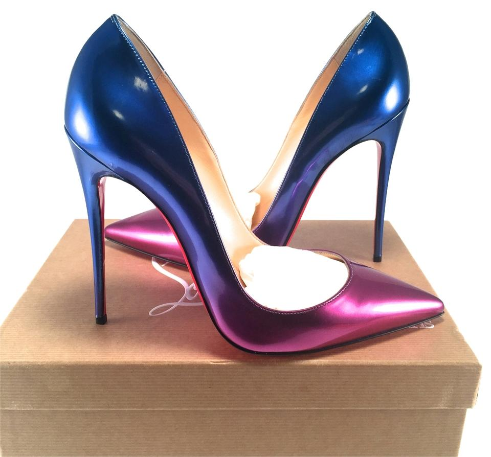 new style b221d e813c Christian Louboutin Multicolor Ombre Scarabe Blue Rose Pink So Kate Heels  10 #399 Pumps Size US 10.5
