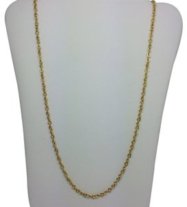 14K Solid Yellow Gold Double Rolo Chain 22