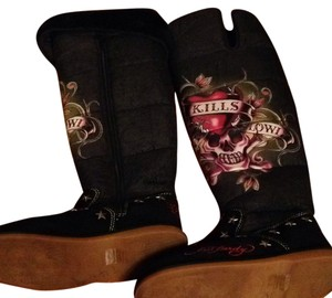 b9ddba043bd Ed Hardy Boots & Booties Up to 90% off at Tradesy
