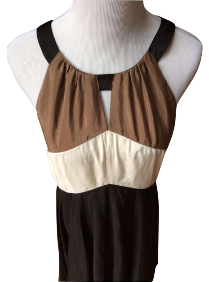 ebaffe9996c Vince Camuto Brown Beige and Black Long Night Out Dress Size 10 (M ...