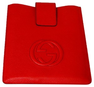 Gucci GUCCI 305986 Red Leather Soho Ipad Case