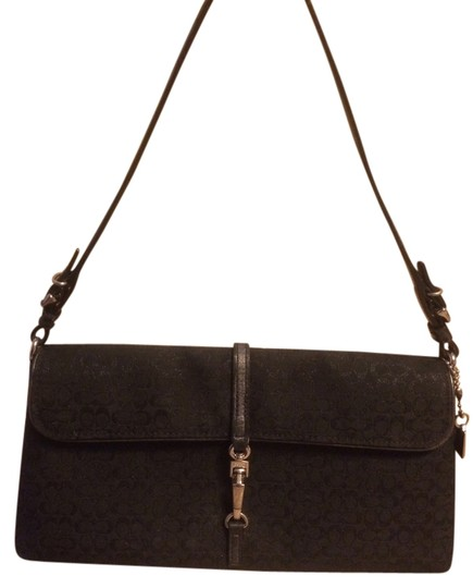 Preload https://item1.tradesy.com/images/coach-signature-c-shimmering-black-jacquard-leather-clutch-1000595-0-0.jpg?width=440&height=440
