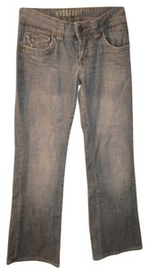 Hydraulic Distressed Comfortable Trendy Boot Cut Jeans-Light Wash