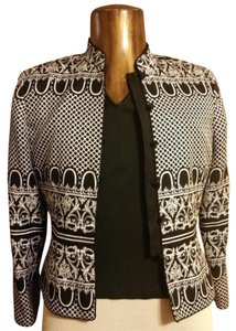 Other Silk Black, White, and Gray, seed beads Jacket