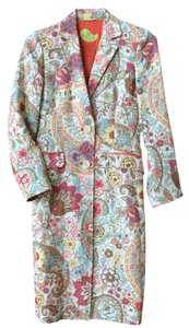 Jacquared Fabric Fully Lined Coat