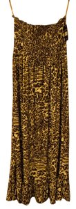 tan, black, white--animal print Maxi Dress by Just Love Maxi Strapless Animal