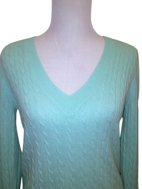 free shipping J.Crew Cashmere Blend V-neck Cable Sweater! Sweater - 70% Off Retail