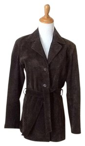 New York & Company Suede Brown Leather Jacket