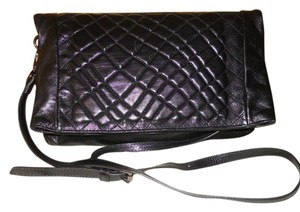 Rossella D Leather Quilted Clutch Cross Body Shoulder Bag