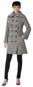 Soia & Kyo Wool Black White Pea Coat