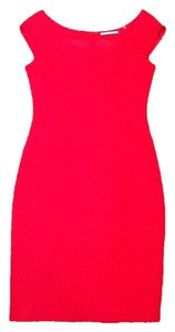 Tahari Red Fuchsia Sleeveless Dress