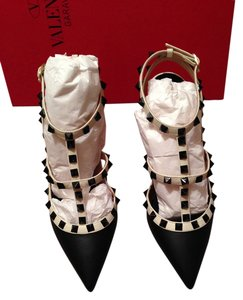 Valentino Red Cream Black Pumps