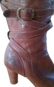 UGG Australia Leather Groovey Trendy Chestnut brown Boots