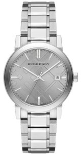 Burberry Burberry Check Stamped Silver Stainless Womens Watch BU9035