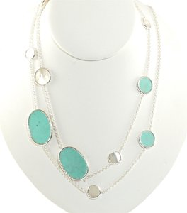 Ippolita Ippolita Sterling Silver Turquoise Mother of Pearl Long Necklace .925 37
