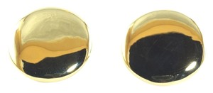 Ippolita Ippolita 18K Yellow Gold Smooth Stud Earrings Post Large Plain Disks Glamazon