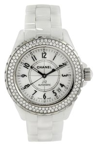 Chanel Chanel Automatic White Ceramic and Steel J12 38MM Diamond Watch