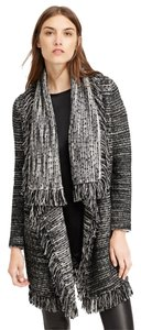 Vince Drape Fringe Sweater Coat